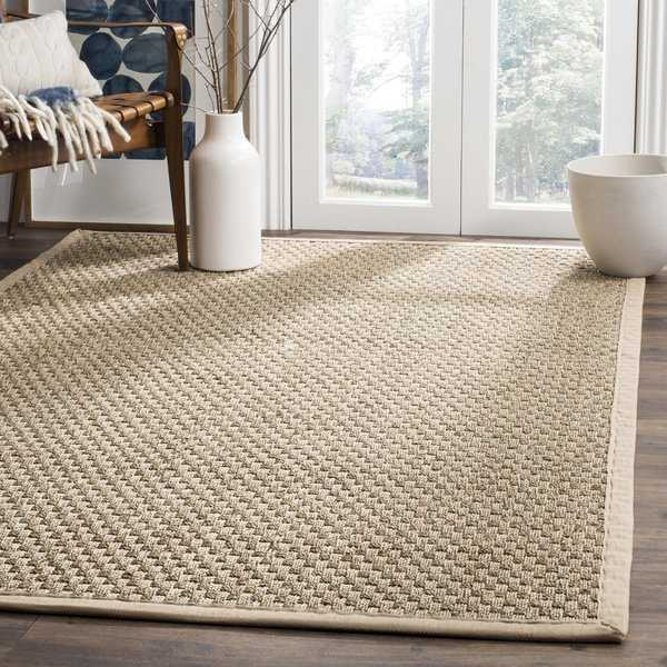 Safavieh Casual Natural Fiber Natural and Beige Border Seagrass Rug - 3' x 5'
