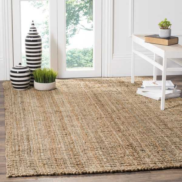 Safavieh Casual Natural Fiber Hand-Woven Natural Accents Chunky Thick Jute Rug - 5' x 7'6'