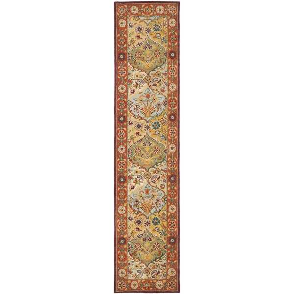 Safavieh Handmade Heritage Traditional Bakhtiari Multi/ Red Wool Runner - 2'-3' x 20'