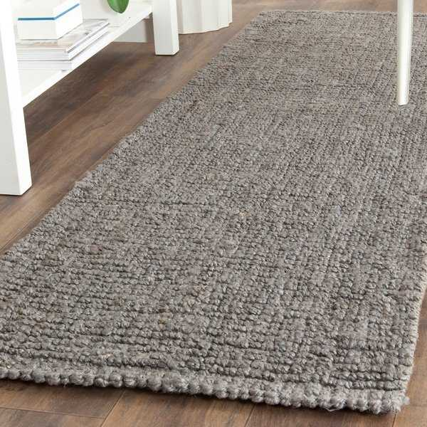 Safavieh Casual Natural Fiber Hand-Woven Light Grey Chunky Thick Jute Rug - 2'6' x 12'