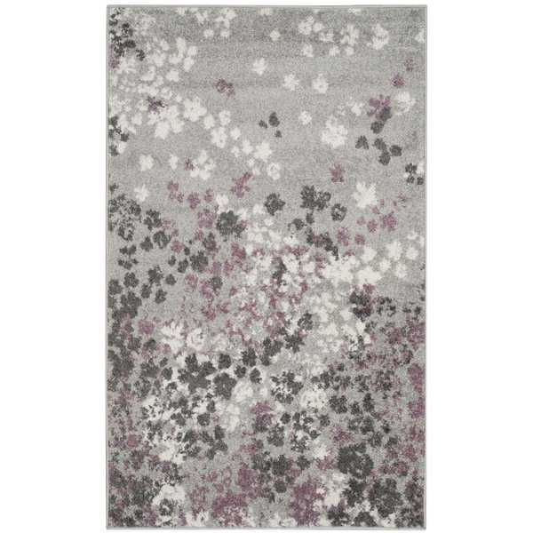 Safavieh Adirondack Vintage Floral Light Grey / Purple Rug - 3' x 5'