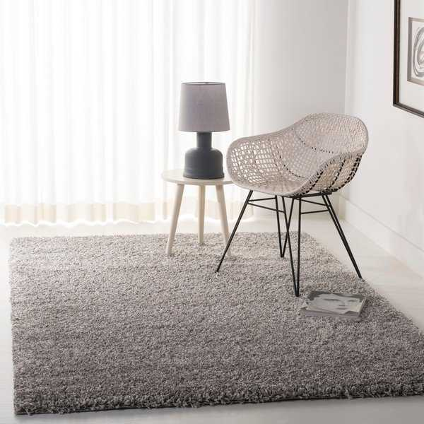 Safavieh California Cozy Plush Silver Shag Rug - 6'7' x 9'6'