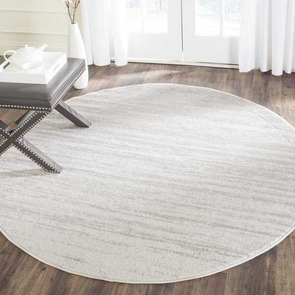 Safavieh Adirondack Vintage Ombre Ivory / Silver Rug - 4' x 4' Round
