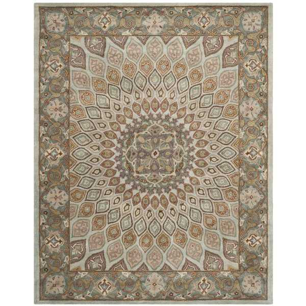 Safavieh Handmade Heritage Timeless Traditional Blue/ Grey Wool Rug - 9' x 12'